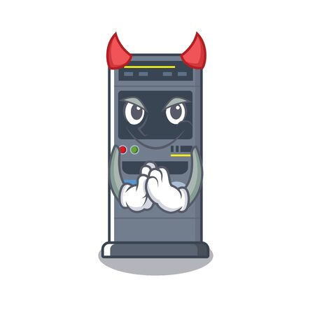Devil parking vending machine isolated the mascot vector illustration