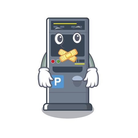 Silent parking vending machines cartoon the door  イラスト・ベクター素材