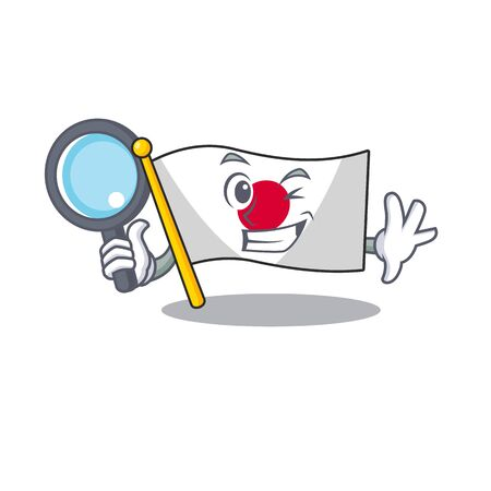 Detective flag Japan isolated with the character Ilustração