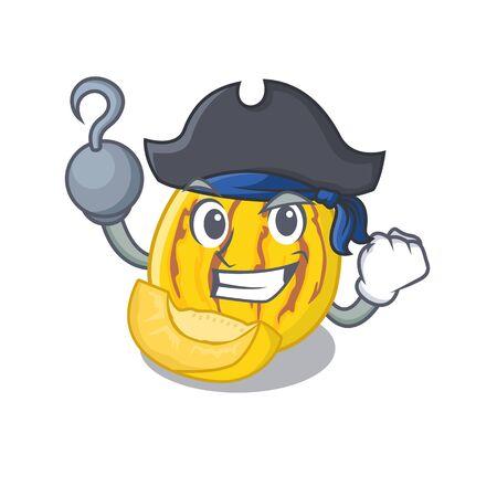 Pirate pepino melon isolated in the mascot