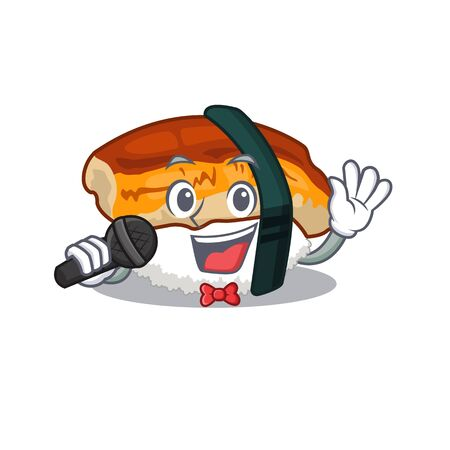 Singing unagi sushi in the character lunchbox