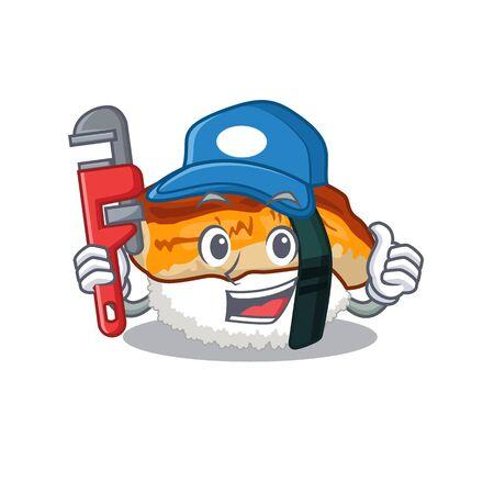 Plumber sushi unagi in the cartoon shape