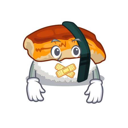 Silent sushi unagi in the cartoon shape Illustration
