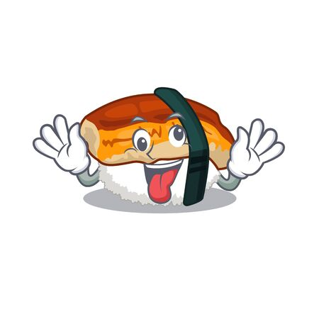 Crazy sushi unagi in the cartoon shape