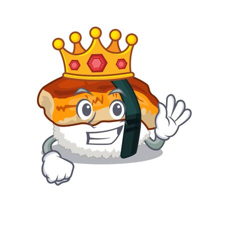 King sushi unagi in the cartoon shape