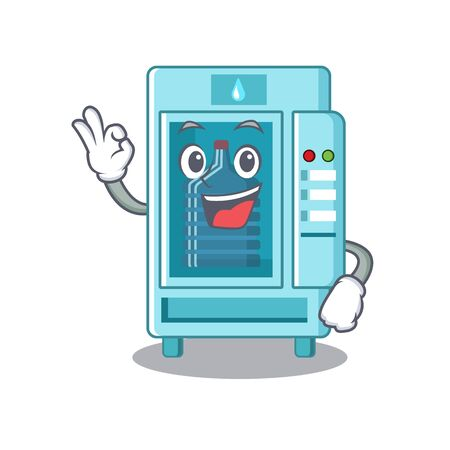 Okay water vending machine in a character