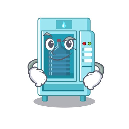 Smirking water vending machine in a character Иллюстрация