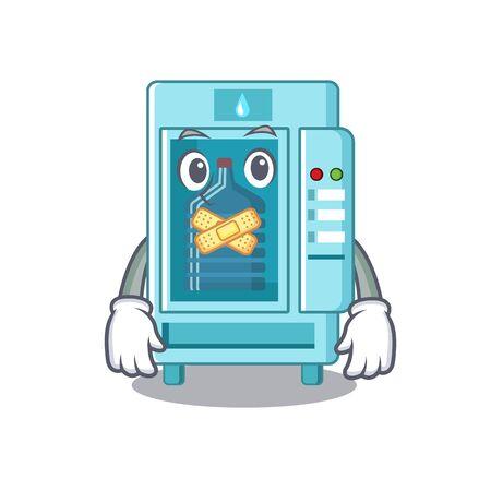 Silent cartoon water vending machine on table