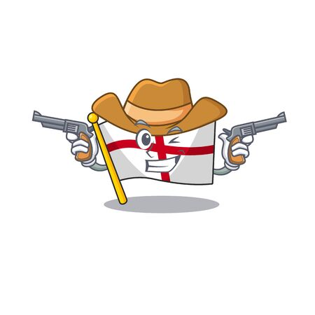 Cowboy flag england isolated in the mascot