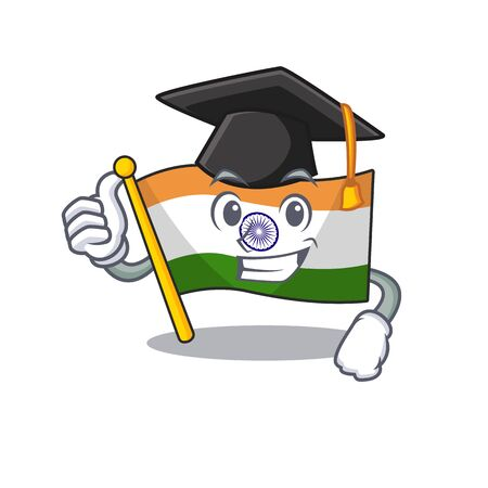 Graduation flag indian with the mascot shape