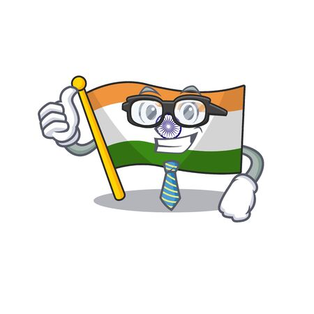 Businessman flag indian with the mascot shape
