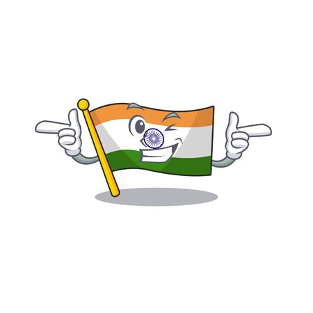 Wink flag indian with the mascot shape vector illustration 写真素材 - 128880855