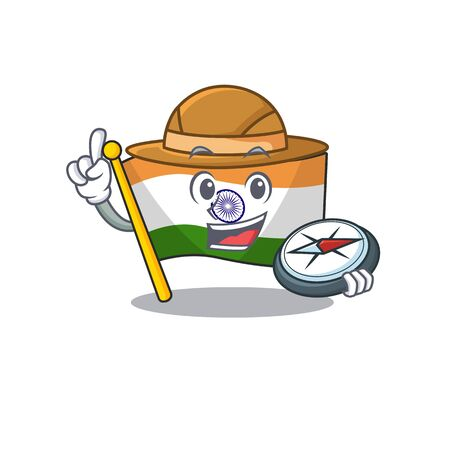 Explorer flag indian isolated in the character