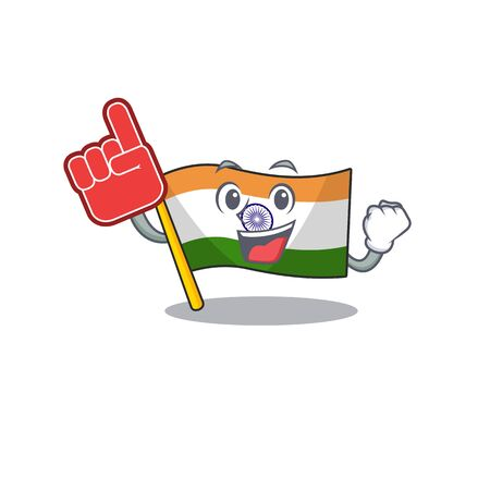 Foam finger indian flag kept in cartoon cupboard 일러스트