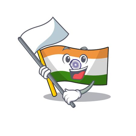 With flag indian flag kept in cartoon cupboard