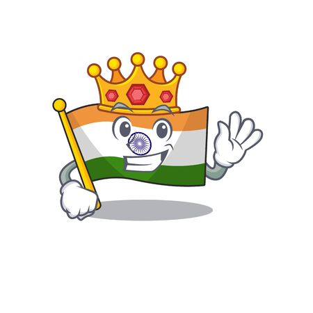 King indian flag kept in cartoon cupboard 일러스트