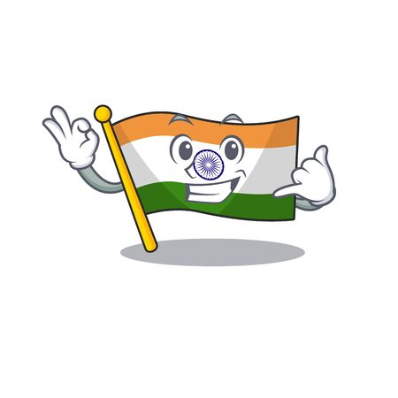 Call me indian flag kept in cartoon cupboard