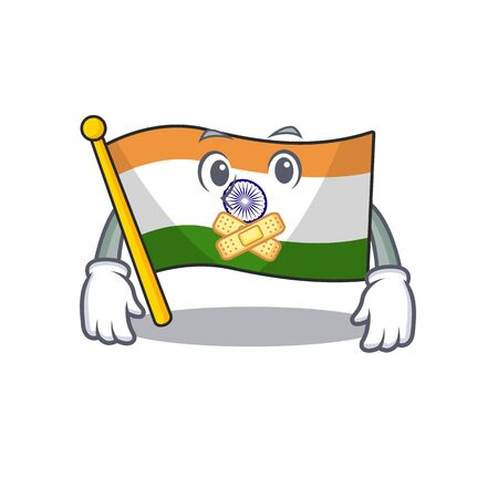 Silent indian flag kept in cartoon cupboard 일러스트