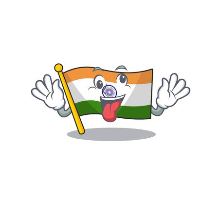 Crazy indian flag kept in cartoon cupboard