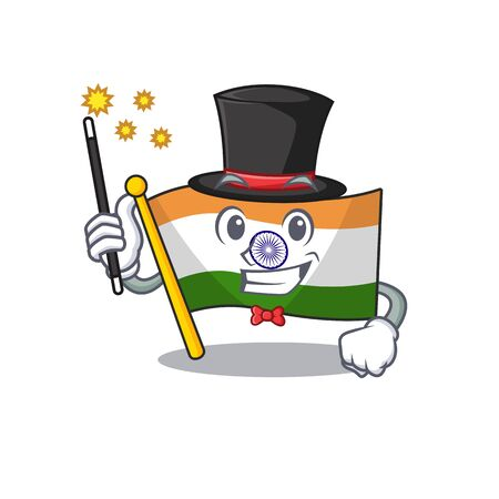 Magician indian flag kept in cartoon cupboard