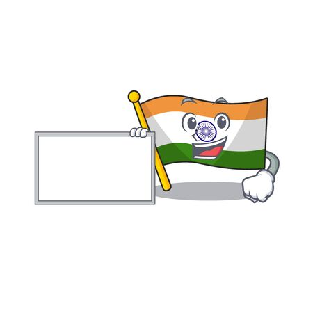 With board Indian flag kept in cartoon drawer