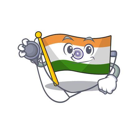 Doctor Indian flag kept in cartoon drawer