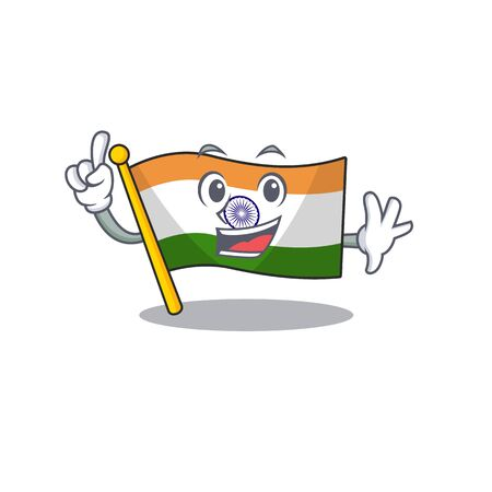 Finger indian flag kept in cartoon cupboard