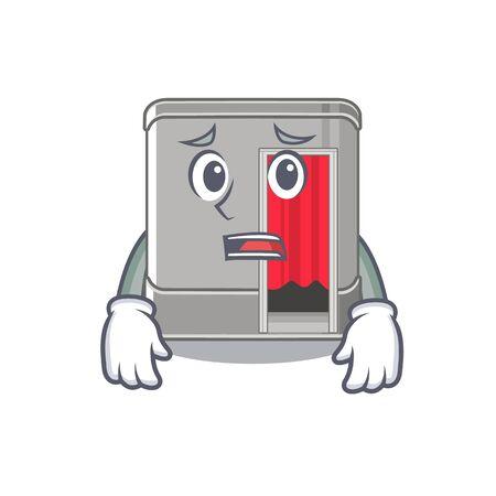 Afraid photo booth isolated with the cartoon vector illustration Standard-Bild - 128818412