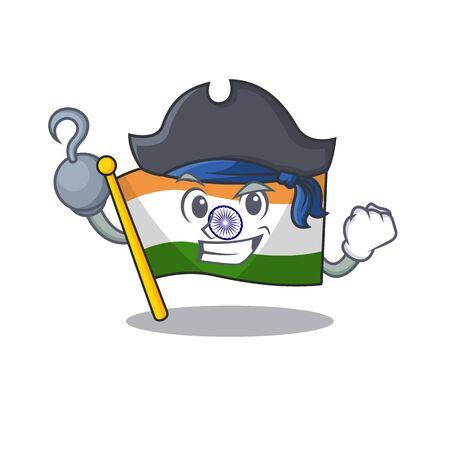 Pirate Indian flag kept in cartoon drawer