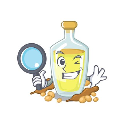 Detective soybean oil in a mascot bowl