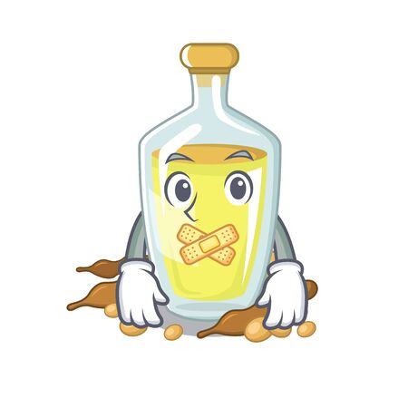 Silent soybean oil with the character shape
