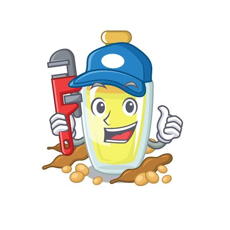 Plumber soybean oil with the character shape