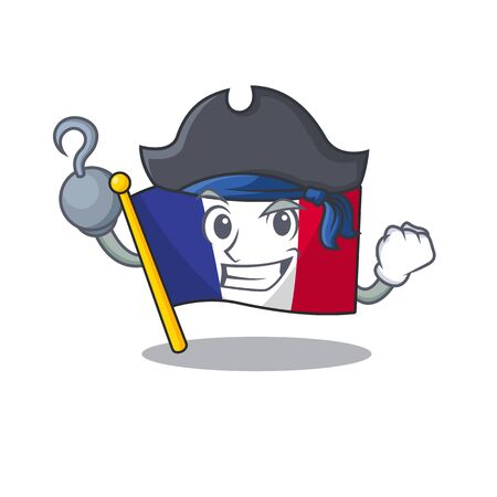 Pirate flag france fluttered on character pole