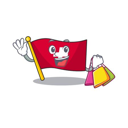 Shopping flag switzerland isolated in the character 向量圖像