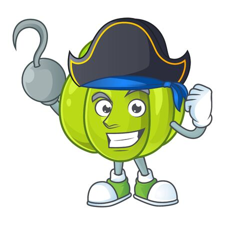 Pirate green pumpkin vegetable for ingredient food Ilustracja