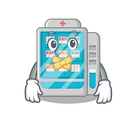 Silent medicines vending machine on a mascot