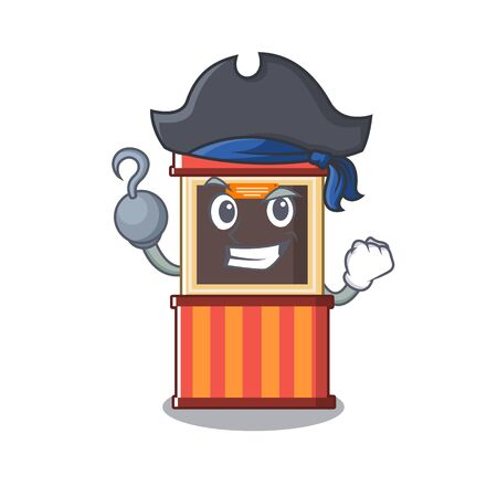 Pirate ticket booth edge of mascot table Stock Illustratie