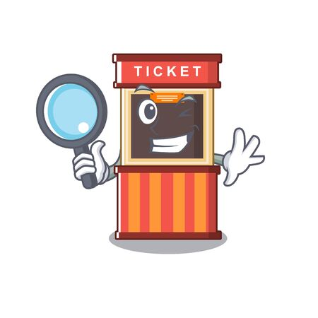 Detective ticket booth in the cartoon shape