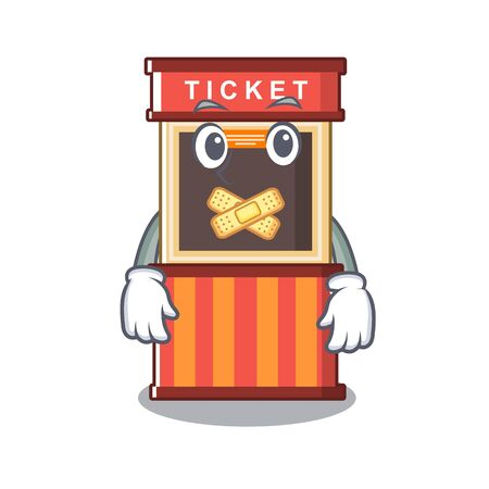 Silent ticket booth in the character door