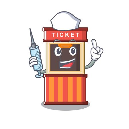 Nurse ticket booth in the cartoon shape