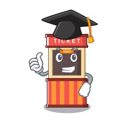 Graduation ticket booth in the cartoon shape Ilustracja
