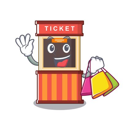 Shopping ticket booth in the cartoon shape