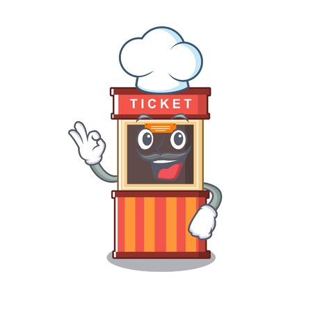 Chef ticket booth in the cartoon shape