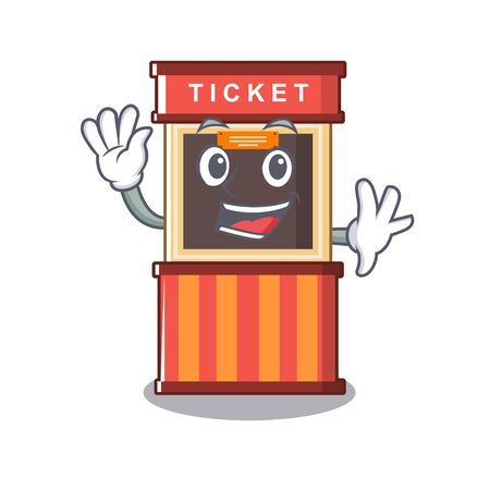 Waving ticket booth in the cartoon shape