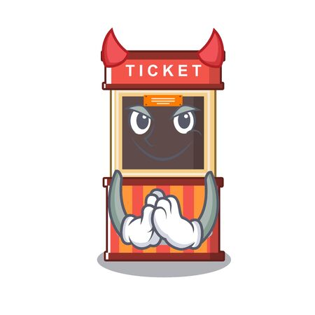 Devil ticket booth isolated with the cartoon vector illustration