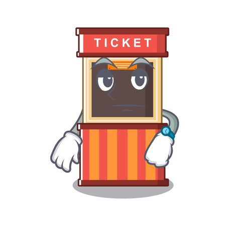 Waiting ticket booth in the character door Stock Illustratie
