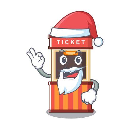 Santa ticket booth in the character door 向量圖像