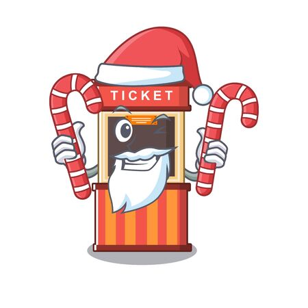Santa with candy ticket booth in the character door