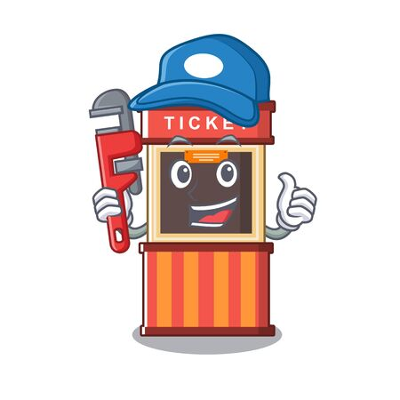 Plumber ticket booth in the character door