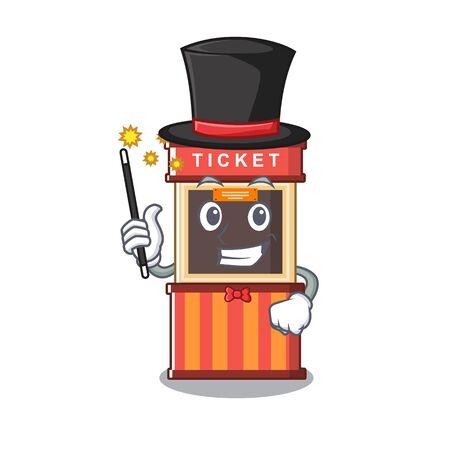 Magician ticket booth in the character door